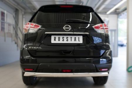 Nissan X-Trail 2015 Защита заднего бампера d75х42 (дуга) NXZ-002092